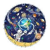 IPOTCH 48 Piezas De Dibujos Animados Cosmos Planeta Rompecabezas Juego Niños Juguetes Educativos