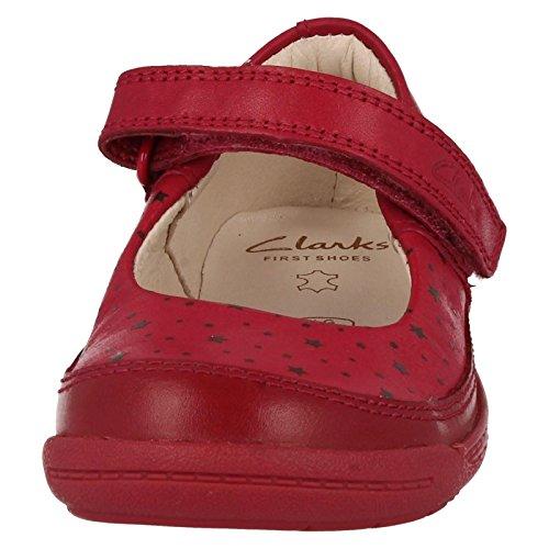 Clarks  Softly Ida Fst, Chaussures premiers pas pour bébé (fille) Violet morado oscuro Violet - Morado - morado oscuro