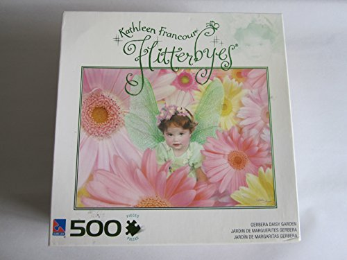Sure-Lox Kathleen Francour Flitterbyes Gerbera Daisy Garden 500 Piece Puzzle by