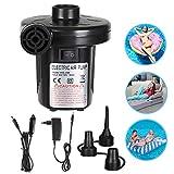 Etmury Elektrische Luftpumpe Multifunktion Elektrische Pumpe, 2 in 1 Elektropumpe mit 3 Luftdüse...