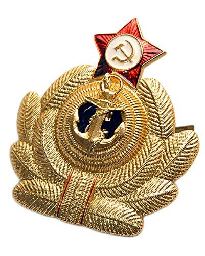 Ganwear® Metall-Abzeichen mit rotem Stern, Adler, Marineblau -