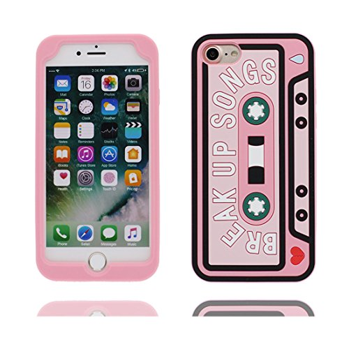 iPhone 7 Plus Custodia, TPU protezione iPhone 7 Plus Copertura 5.5, Case Cartoon Tdurevole Cover - ( 3D Fiore colorato, Palla ) iPhone 7 Plus shell 5.5 Anti-Graffi rosa 2