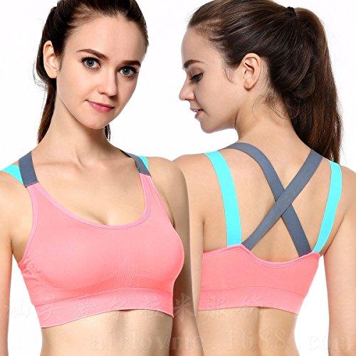 JFIN Femmes Pull Bra Nylon Workout Absolue La Couleur De La Chair Indy Pro Pink