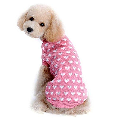 Hunde/Katzen Pullover, Transer® Pets Westen Sweatshirts Love Herz Knit Kleidung Hunde outwears T-Shirt Puppy Mäntel für Kleid Up Doggy Kostüme Kneipe/Kätzchen (Baby Dressing Wie Ein Up Kostüm)