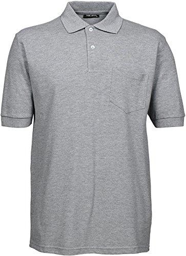 Tee Jays Herren Polo Piqué Poloshirt Brusttasche 2400 Heather Grey XXL