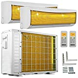 A++/A++ DuoSplit Golden-Fin 12000+12000 BTU MultiSplit Klimaanlage INVERTER Klimagerät und Heizung WiFi-Ready