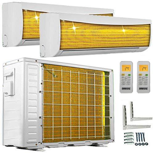 A++/A++ DuoSplit Golden-Fin 12000+12000 BTU MultiSplit Klimaanlage INVERTER Klimagerät und Heizung WiFi-Ready -