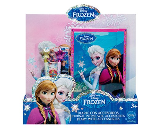 Frozen - Glitter, agenda con accesorios, color rosa, verde y morado (Cife)