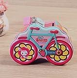 Weekendy Schöne süße Geldbank Roman Bike Piggy Bank Zinn Spar Pot Geschenk für Kinder (Pink)