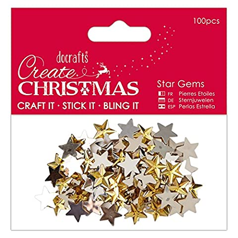 Papermania Create Christmas Adhesive Gems 100/Pkg-Gold