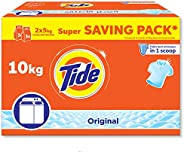 Tide Powder Laundry Detergent, Original Scent, 10 KG