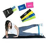 Sody Products Fitnessband 6er Set, Gymnastik Band Zum Kraft Und Muskelaufbau, Widerstandsb�nder Yoga Pilates Crossfit Und Physiotherapie stretchband medium image