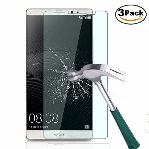 Vada-Tec | 3x bruchsicheres Panzerglas Huawei Ascend Mate 8 | Schutzfolie aus 9H Echtglas | Schutzglas zur Vermeidung von Displayschaden