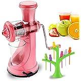 Combo Of Manual Fruit Juicer With Baby Bird Fruit Fork Set