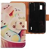 Lankashi PU Flip Funda De Carcasa Cuero Case Cover Piel Para LG Google Nexus 4 E960 Lovely Design