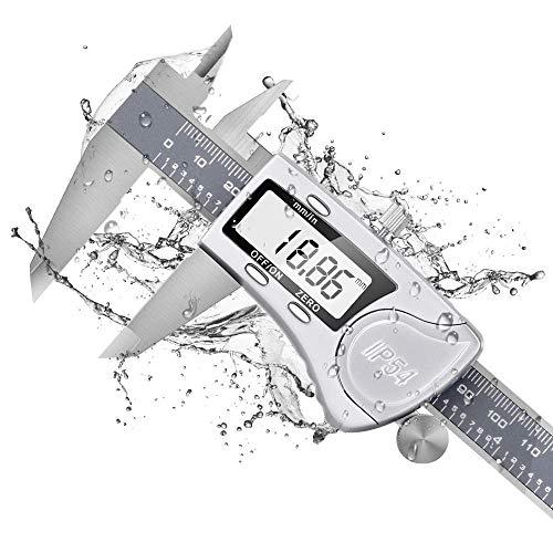 Dijite Calibro Digitale - Professionale Righello Elettronico Preciso Impermeabile IP54 in Acciaio...