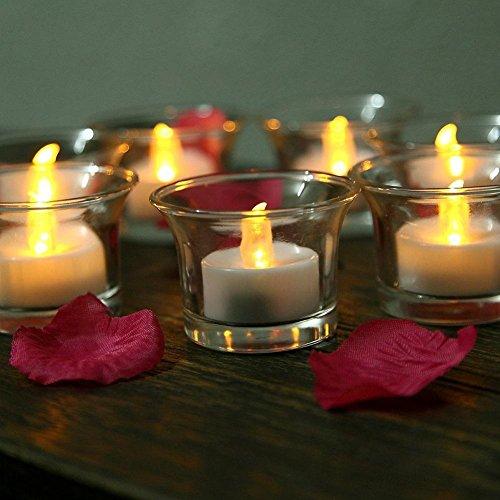 L&R Pilas Control remoto LED Flameless parpadeo parpadeo velas ligeras del té, paquete de 24