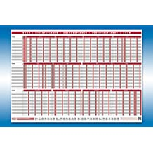 bundle Urlaubsplaner Kalender Personalplaner PLANORAMA + gratis Kalenderkarte 2019 von 4-prints