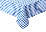 Landhaus Tischdecken in Karo Farbe und Größe wählbar 100% Baumwolle (blau-weiß kariert, 100x140 cm eckig)