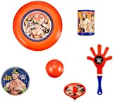 Amscan Grand Slammin Wwe Birthday Party Favors Mega Mix Value Pack (48 Piece), Multi