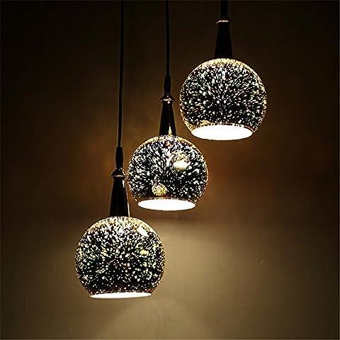 CAC 3D vetro ristorante minimalista annata splendida bottiglia di vino Le luci pendenti Cafe-Room/Bar Decorazione Ciondolo singolo Creative
