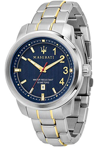 Maserati Polo Mens Analogue Quartz Watch with Stainless Steel Bracelet R8853137001