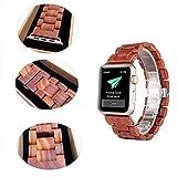 Apple Watch Armband,Sumgar® Natur Holz Replacement Wrist Band mit Adapter Uhrenarmband für Apple...