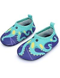 JIASUQI Baby Infant Toddler Water Swim Shoes Aqua Skin Socks Quick Dry Barefoot for Beach Swim Pool