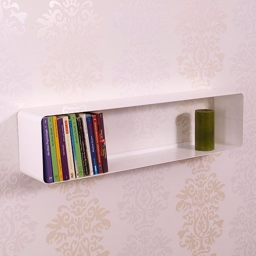 LOUNGE DESIGN DVD & BLU-RAY REGAL CUBE von DESIGN DELIGHTS retro metall wand rack weiss
