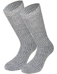 Tobeni trois paires de chaussettes sans pression élastique des chaussettes de laine norvégiens de 100