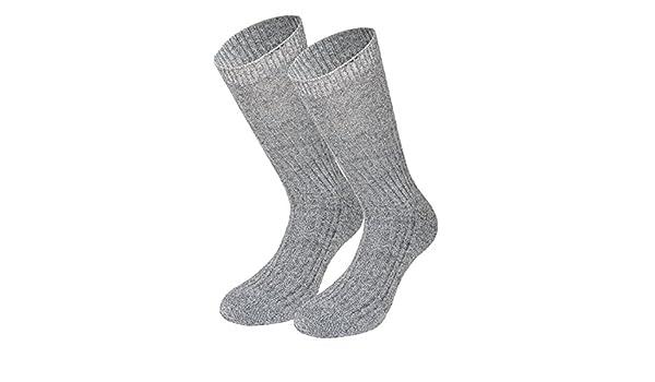 Tobeni 3 Paires de Chaussettes Norvegiennes Chaussettes Homme en Laine avec Semelle Eponge sans Caoutchouc de 100 Laine