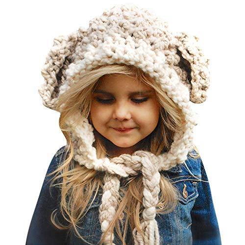 Baby Mütze Beanie Strickmütze Mädchen - Warme Wintermützen für Kinder Earflap Fotografie Herbst Kostüm Kleinkind Jungen Gestrickter Hüte Kappe Schnee Hüte