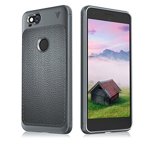 Google Pixel 2 Hülle, Ylinova Creative Design Grey Premium Back Case with Shell Edge Protection Cover für Google Pixel 2