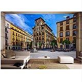 Xbwy Fondo De Pantalla 3D Ls De Pared Para Paredes Papel Tapiz Fotográfico 3 D Vista De La Calle De Madrid, España Decoración De La Habitación Pintura Personalizada L-200X140Cm