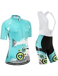 Maillot de Cyclisme Femme Manches Courtes jersey(S~5XL,option:Cuissard,3D Coussin) N231