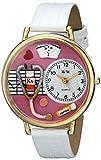 Whimsical Watches Nurse Pink Watch in Gold - Reloj de pulsera