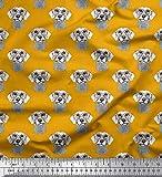 Soimoi Gold Baumwolle Ente Stoff Specs & Dackel Gesicht
