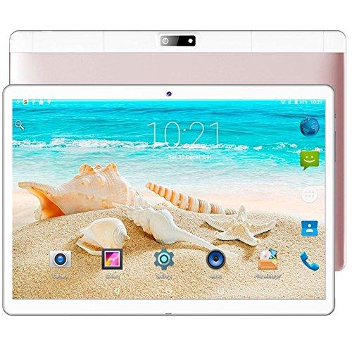 Gulin 10,1 Zoll Tablet PC 4 GB RAM 64 GB ROM Android 7.0, Dual Sim 3G Telefonieren, HD IPS Bildschirm 1920 x 1200, WLAN/Wifi Blutooth OTG, Dual Kamera (Roségold)