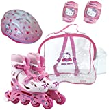 Hello Kitty Inline with Helmet, Elbow and Knee in Bag