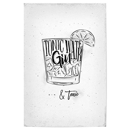 artboxONE Poster 90x60 cm Gin Tonic Cocktail von Künstler Anna Kozlenko