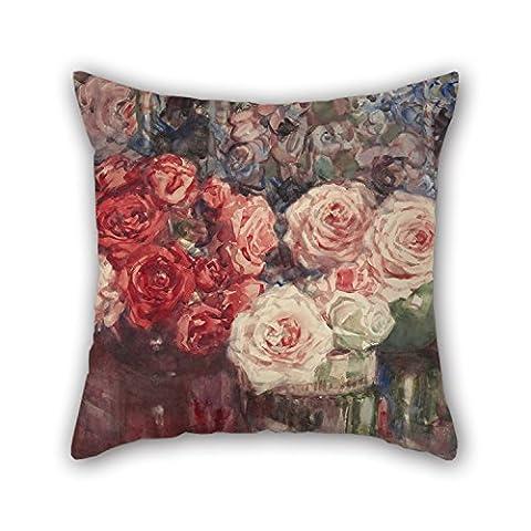 Alphadecor Peinture à l'huile Margaret Stoddart–Roses Taies d'oreiller, le meilleur pour filles, Club, salle de manger, Mari, Valentine, canapé 45,7x 45,7cm/45par 45cm (deux côtés)
