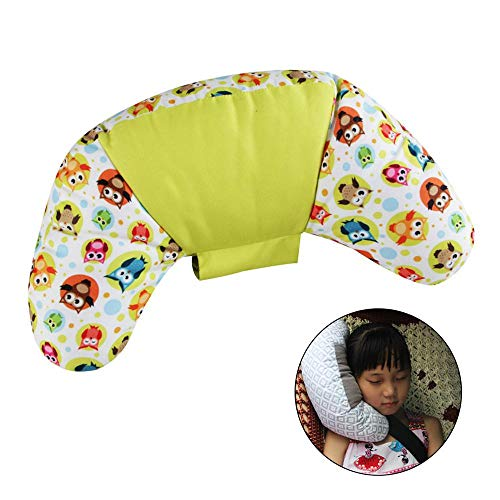Ceepko Kindersicherheitsgurt Kissen, Sicherheitsgurt Nackenkissen wird verwendet, um die Halswirbel zu schützen, lindern Impuls, geeignet für Kinder und Erwachsene, PP Baumwolle