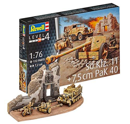 Revell Modellbausatz Panzer 1:76 - SD.Kfz.11 + 7,5 cm Pak 40 im Maßstab 1:76, Level 4, originalgetreue Nachbildung mit Vielen Details, 03252
