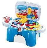 Set para jugar a médicos para niños - Con forma de taburete y maletín