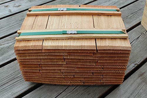 Lärchenholzschindeln 20cm, Bundinhalt 9 Breitenmeter