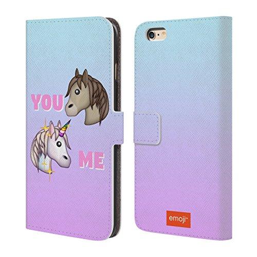 Offizielle Emoji Phase Pastell Einhörner Brieftasche Handyhülle aus Leder für Apple iPhone 5 / 5s / SE You Versus Me