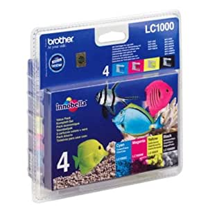 Brother LC1000VALBP Cartouche d'encre MultiPack pour Brother DCP 130 C/MFC 5460