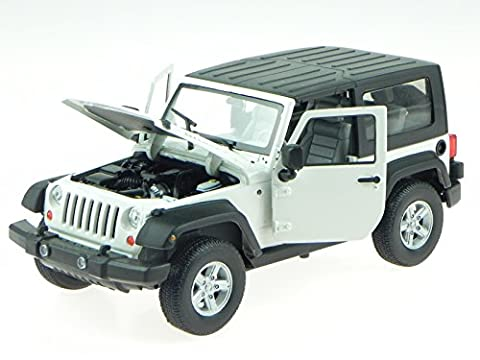 Jeep Wrangler 2007 Hardtop weiss Modellauto 22489H Welly