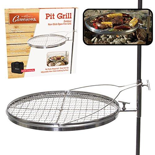 Camerons Camp Feuerstelle drehen Kamin Grill, Camping Grill, Kochfläche mit beschichteten XL und Tragetasche