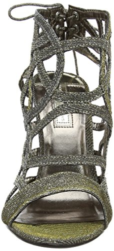 Dorothy Perkins Spartan Caged, Escarpins Bout ouvert femme Gold (Metallic)